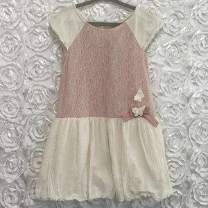 Camilla | Girls Dress with Butterfly Detail